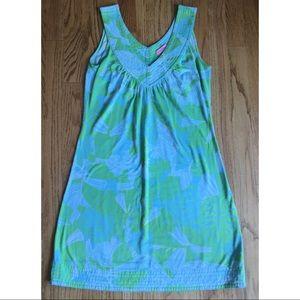 Lilly Pulitzer Nadja Dress Rare Vintage Green Blue